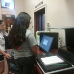 students using scanner