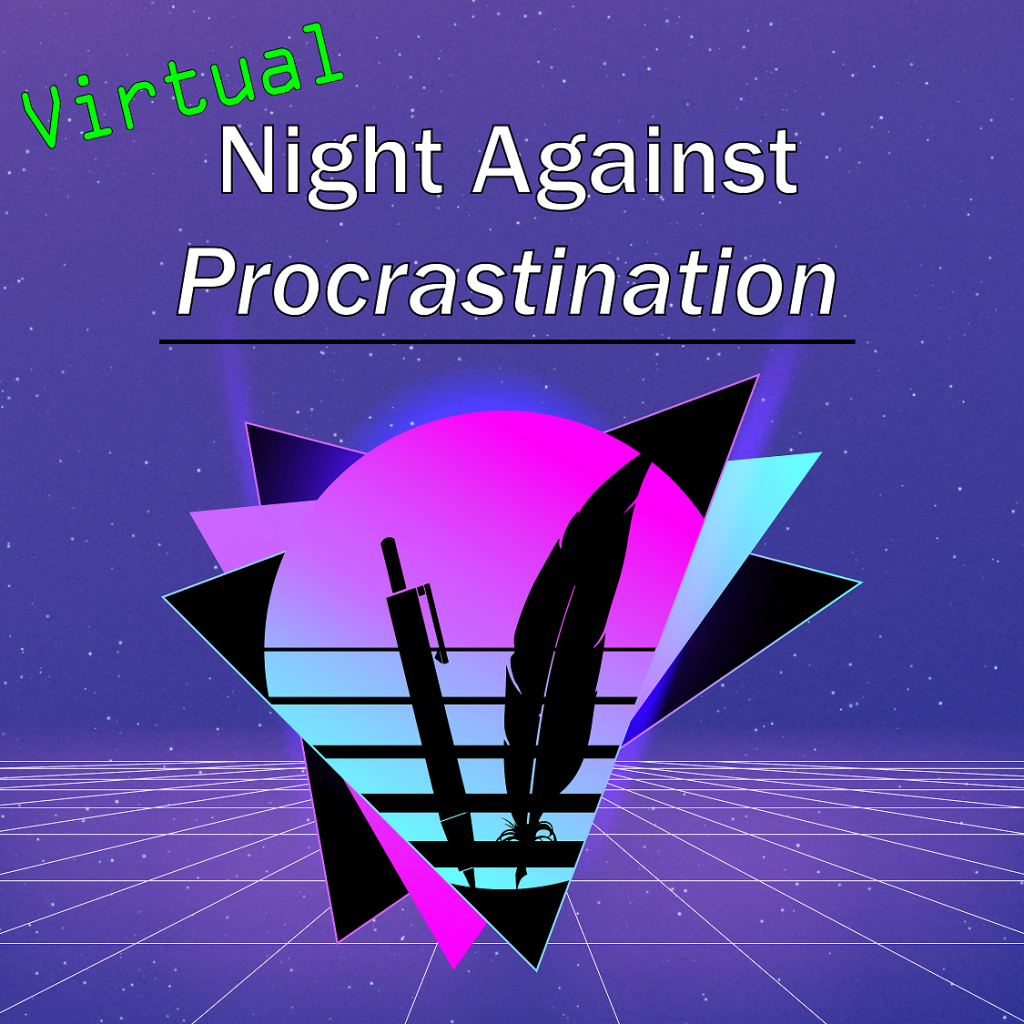 night against procrastination with purple background