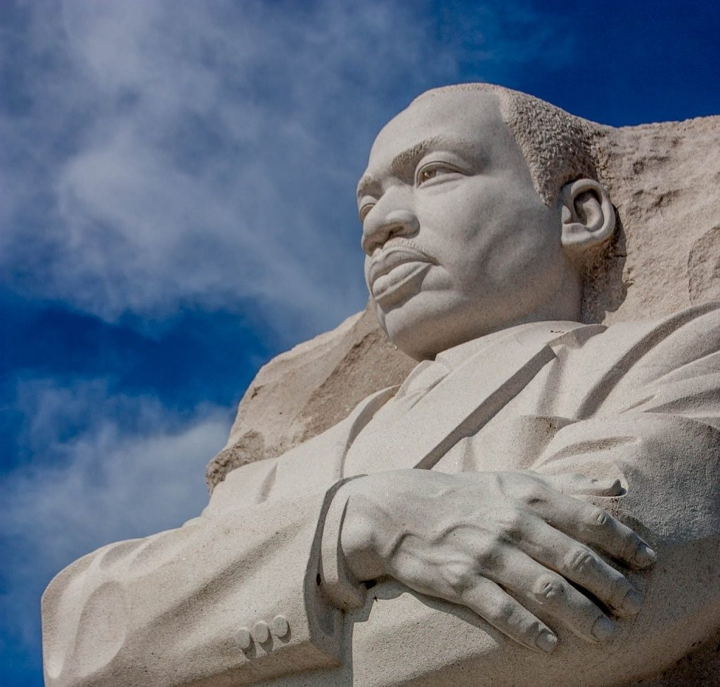 granite relief of Martin Luther King Jr.